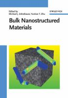 Cover image for Bulk nanostructured materials