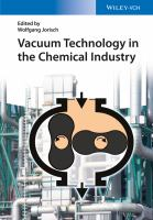 Cover image for Vacuum technology in the chemical industry
