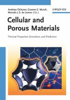 Cover image for Cellular and porous materials : thermal properties simulation and prediction