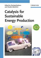 Cover image for Catalysis for sustainable energy production