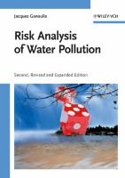 Cover image for Risk analysis of water pollution