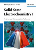 Cover image for Solid state electrochemistry I : fundamentals, materials and their applications