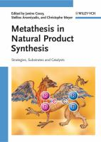 Cover image for Metathesis in natural product synthesis : strategies, substrates and catalysts