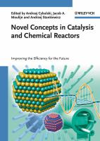 Cover image for Novel concepts in catalysis and chemical reactors : improving the efficiency for the future