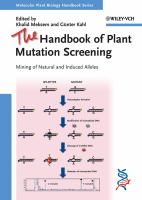 Cover image for The handbook of plant mutation screening : mining of natural and induced alleles