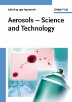 Cover image for Aerosols : science and technology