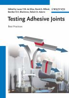 Cover image for Testing adhesive joints : best practices
