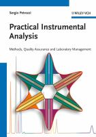 Cover image for Practical instrumental analysis : methods, quality assurance and laboratory management