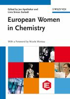 Cover image for European women in chemistry