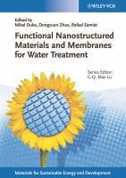 Cover image for Functional nanostructured materials and membranes for water treatment
