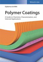 Cover image for Polymer Coatings : A Guide to Chemistry, Characterization, and Selected Application