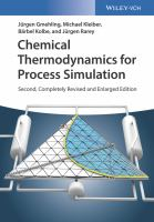Cover image for Chemical Thermodynamics for Process Simulation