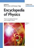 Cover image for Encyclopedia of physics