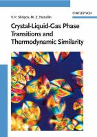 Cover image for Crystal-liquid-gas phase transitions and thermodynamic similarity