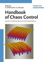 Cover image for Handbook of chaos control