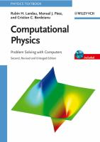 Cover image for Computational physics problem solving with computers