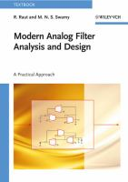 Cover image for Modern analog filter analysis and design : a practical approach