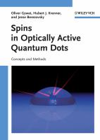 Cover image for Spins in optically active quantum dots : concepts and methods