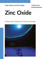 Cover image for Zinc oxide : fundamentals, materials and device technology