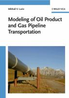 Cover image for Modeling of oil product and gas pipeline transportation