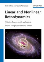 Cover image for Linear and nonlinear rotordynamics : a modern treatment with applications
