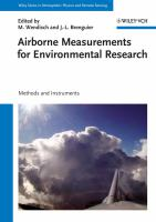 Cover image for Airborne measurements for environmental research: methods and instruments