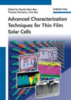 Cover image for Advanced characterization techniques for thin film solar cells