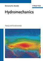 Cover image for Hydromechanics : theory and fundamentals
