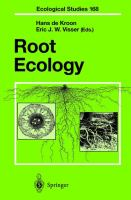 Cover image for Root Ecology