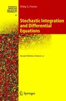Cover image for Stochastic integration and differential equations