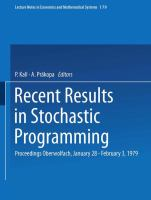 Cover image for Stochastic linear programming