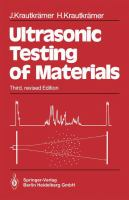 Cover image for Ultrasonic testing of materials