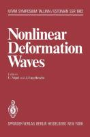 Cover image for Nonlinear deformation waves