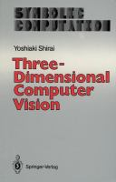 Cover image for Three-dimensional computer vision