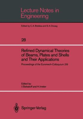 Cover image for Refined dynamical theories of beams, plates and shells and their applications