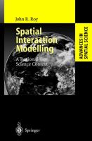 Cover image for Spatial interaction modelling : a regional science context