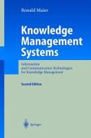 Cover image for Knowledge management systems : information and communication technologies for knowledge management
