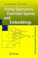 Cover image for Hardy operators, function spaces and embeddings