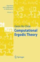 Cover image for Computational ergodic theory