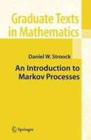 Cover image for An introduction to markov processes
