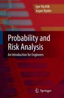 Cover image for Probability and risk analysis : an introduction for engineers