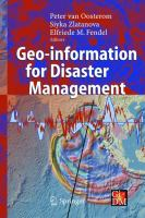 Cover image for Geo-information for disaster management