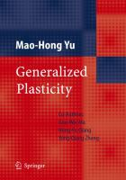 Cover image for Generalized plasticity