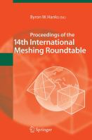 Cover image for Proceedings of the 14th International Meshing Roundtable