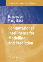 Cover image for Computational intelligence for modelling and prediction