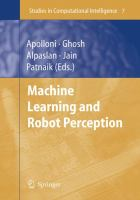 Cover image for Machine learning and robot perception