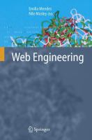 Cover image for Web engineering