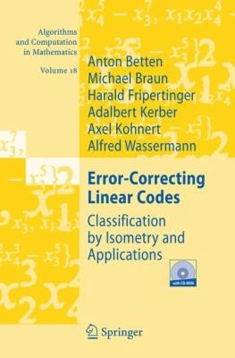 Cover image for Error-correcting linear codes : classification by isometry and applications