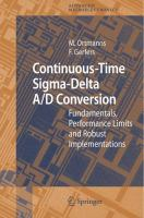 Cover image for Continuous-time sigma-delta A/D conversion : fundamentals, performance limits and robust implementations