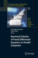 Cover image for Numerical solution of partial differential equations on parallel computers
